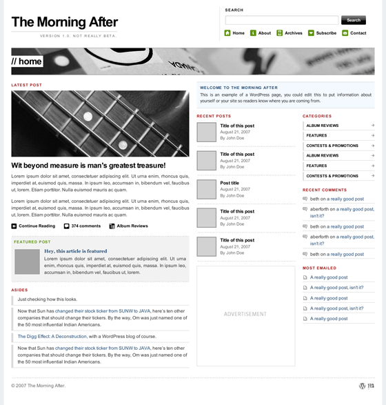 The Morning After Magazine Theme für WordPress