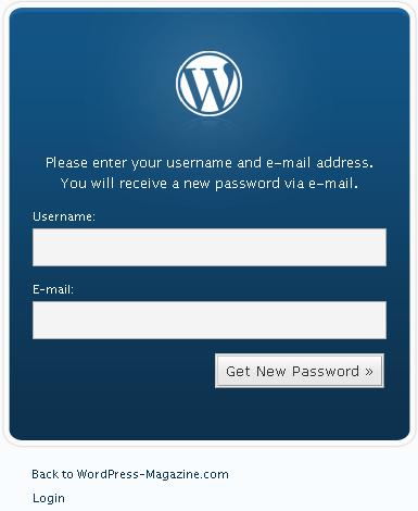 WordPress Admin-Passwort-vergessen
