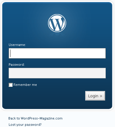 WordPress Admin-Bereich-Login