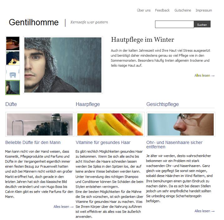 WordPress Theme Gentilhomme - Kostenlos Free Download Herunterladen