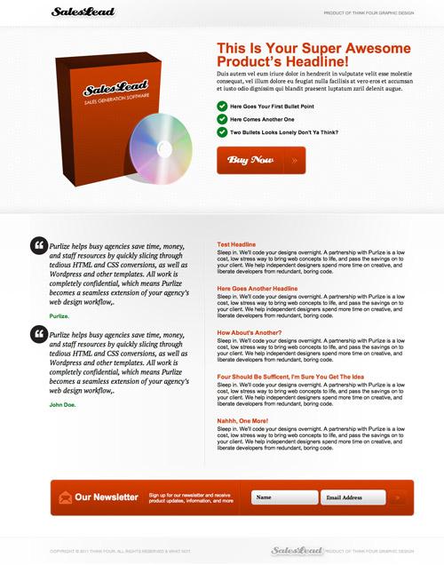 Landingpage Produkt Verkauf WordPress Theme kostenlos