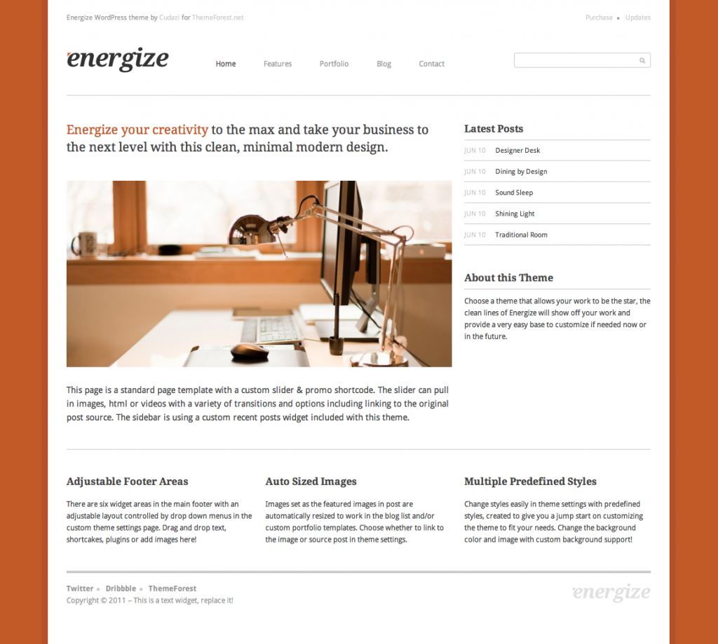 wordpress business theme energize