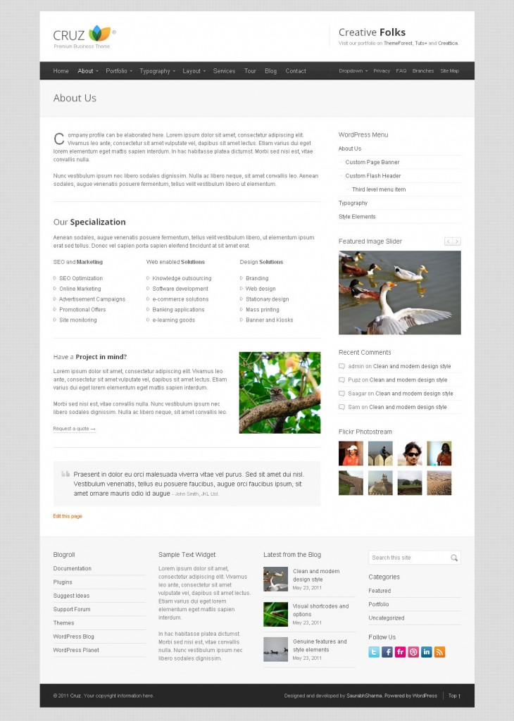 WordPress Magazine Theme Cruz