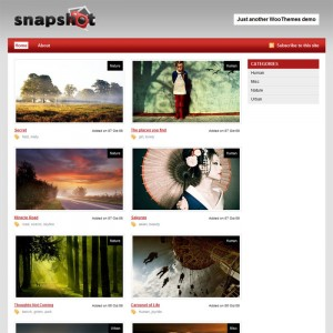 Snapshot WordPress Fotoblog Photoblog Theme Best WP Photo Blog Theme