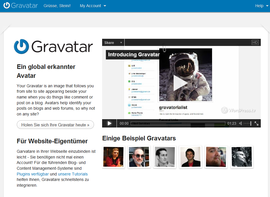 Gravatar - Ihre Online Identität in Weblogs Kommentaren Avatar Profilbild