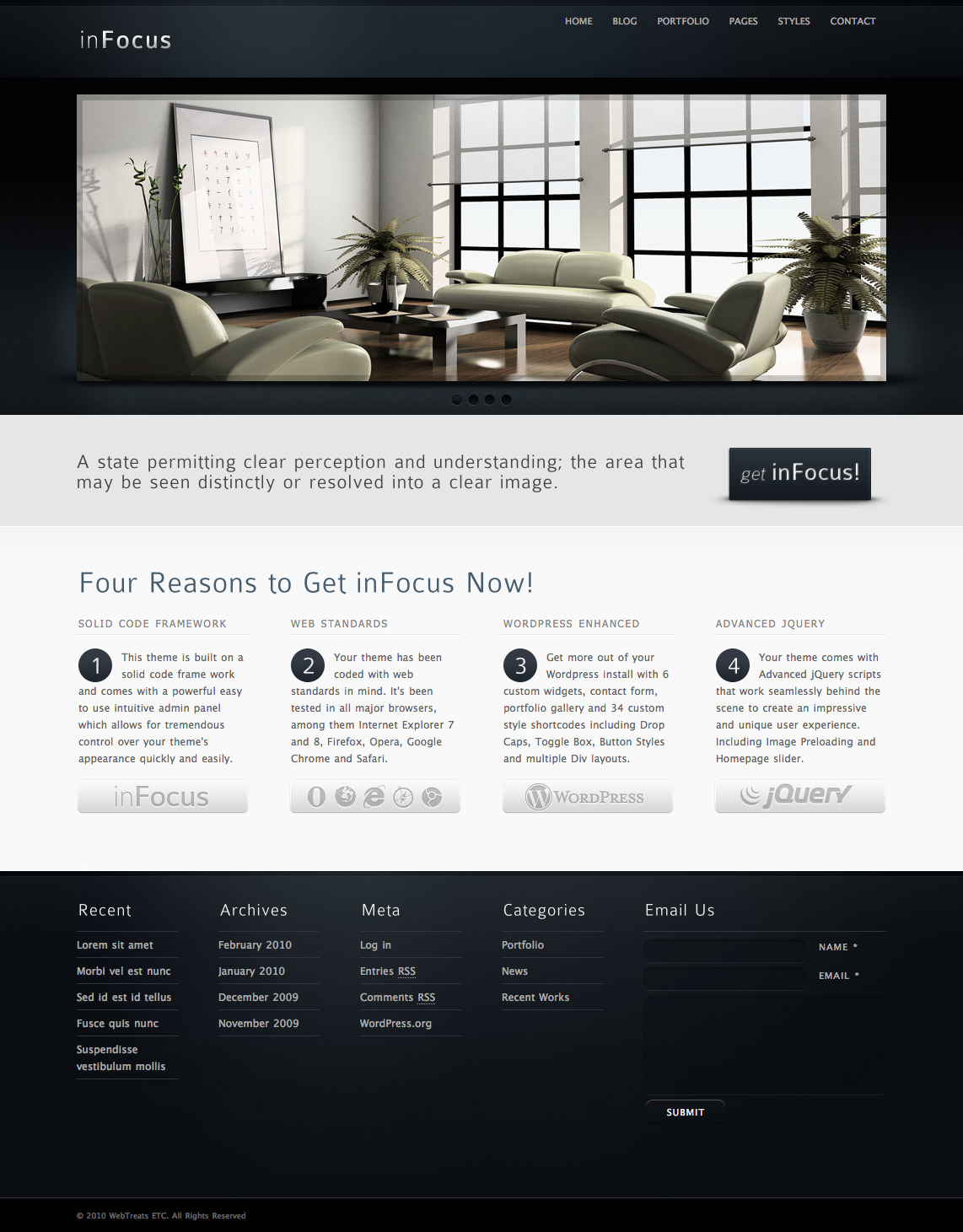 inFocus - Premium WordPress Theme - Corporate Blog