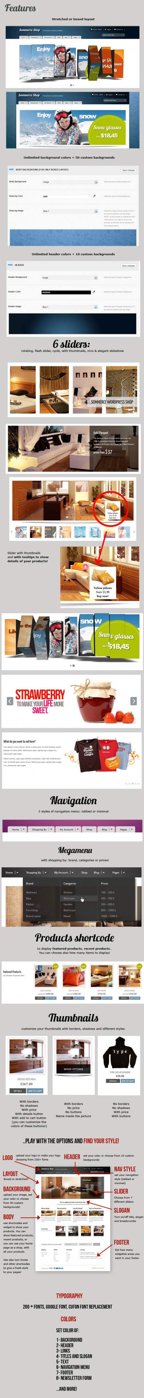 Summerce Versatile Premium eCommerce WordPress Theme Slider