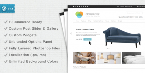 freshshop WordPress Premium eCommerce Shop Theme