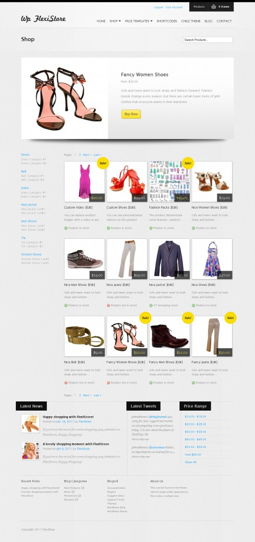 WP Flexishp Premium WordPress eCommerce Theme screenshot