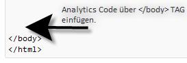 Google Analytics Code vor abschliessenden Body Tag in WordPress Theme Footer.php einbinden