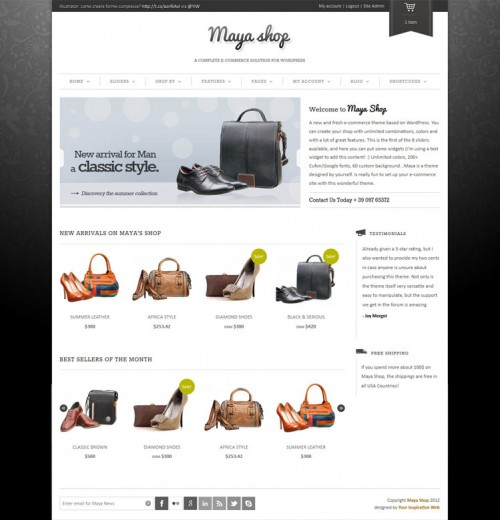 WordPress Premium eCommerce Theme - Maya Shopping