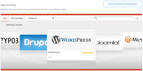1-Click WordPress Installation in 1&1 Webhosting Tarifen - So installiert man WordPress bei 1und1