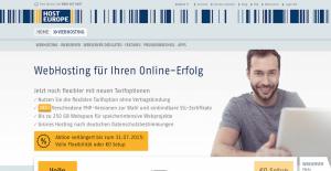 Host Europe Webhosting - WordPress Typo3 Hosting Anbieter