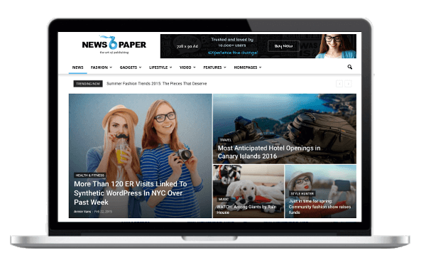 Newspaper Responsive WordPress Premium Theme - Big Slider Mega Menu