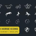 100 Pferde Icons gratis - Pferde Blog und Webseiten Icons