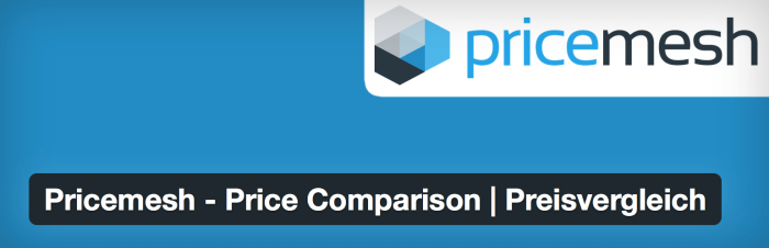 WordPress Affiliate Plugin - Pricemesh Price Comparison Preisvergleich Plugin fuer WordPress