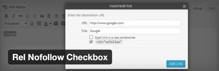 WordPress Affiliate Plugin Rel Nofollow Checkbox