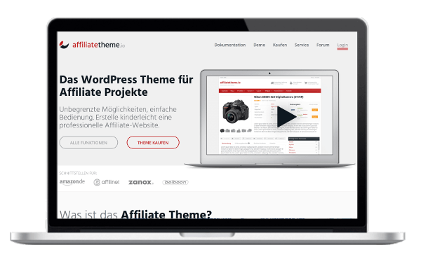 WordPress Affiliate Theme - AffiliateThemeIO - das deutsche WordPress Affiliate Theme mit Preisvergleich