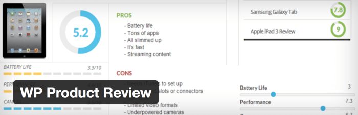 WordPress Review und Star Rating Plugin - WP Product Review
