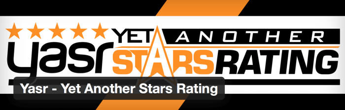 WordPress Review und Star Rating Plugin - yasr - yet another stars rating