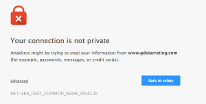 So sah die Webseite von GDStarrating.com aus.