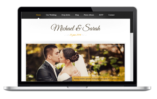 Hochzeit-Theme WordPress - Marriage - Responsive Wedding WordPress Theme