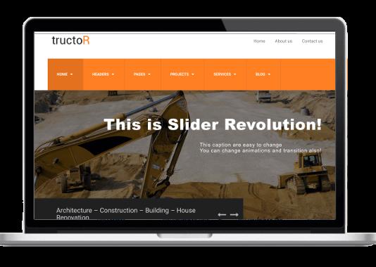 Tructor - WordPress Theme für Architekturbüros und Bauunternehmen - Tiefbau - Hochbau