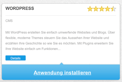 WordPress Blog Installation bei 1und1 - Automatische WordPress Installation