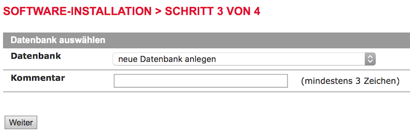 WordPress Blog Installation bei ALL-INKL - Datenbank anlegen