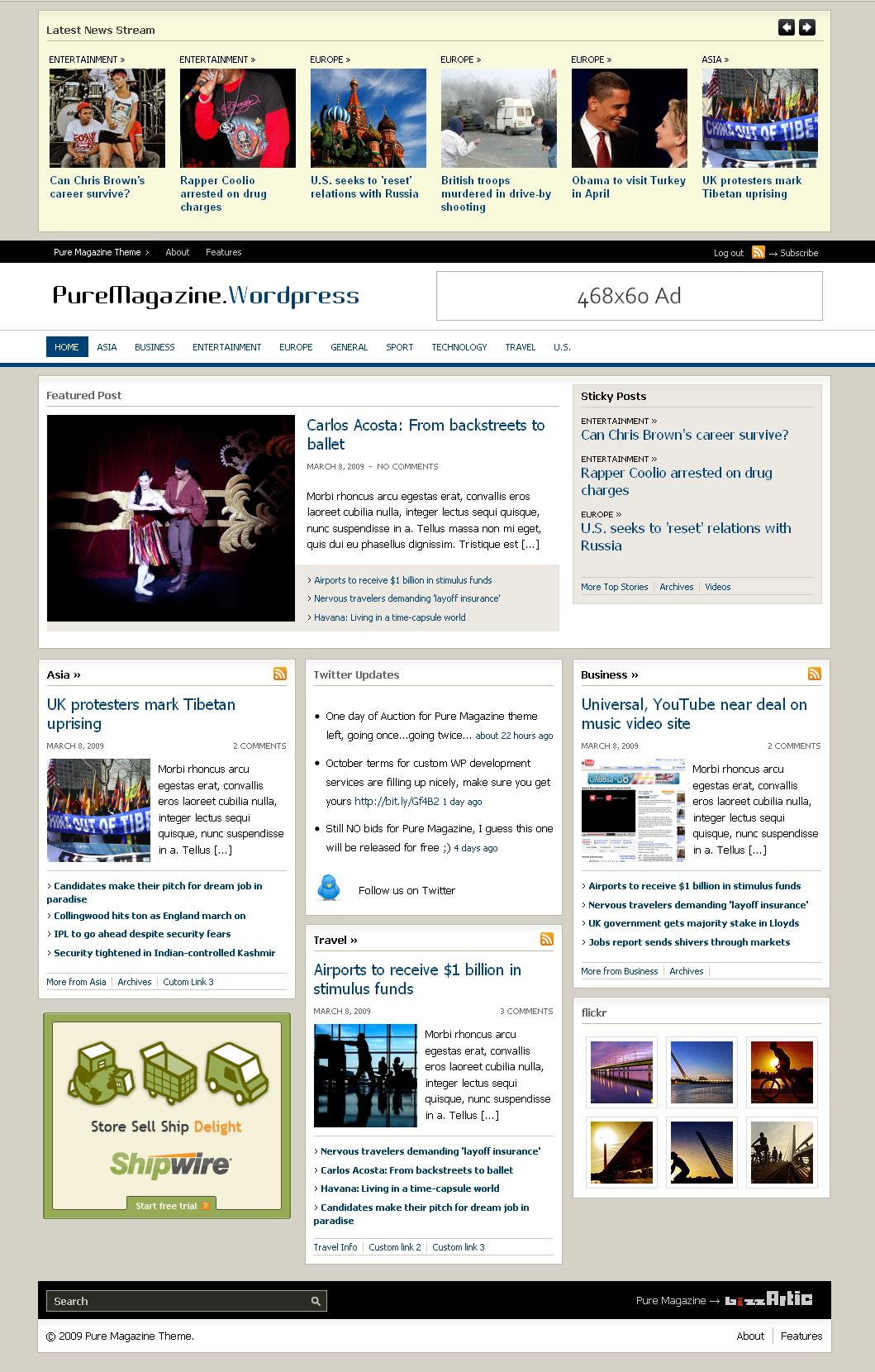 WordPress Magazine Theme: Pure Magazine