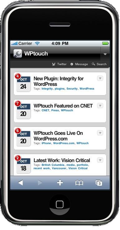 WPTouch - WordPress Smartphone tauglich machen - WordPress Plugin
