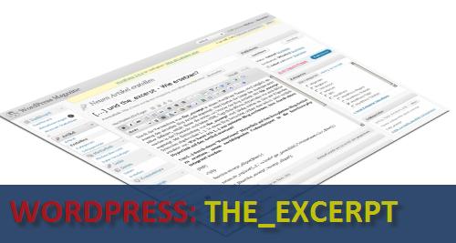 WordPress the_excerpt Ändern von [...] auf einen normalen Hyperlink - Change [...] to a regular hyperlink