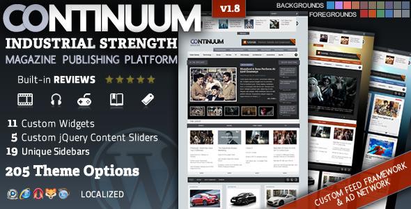 Continuum Premium Publishing Platform WordPress Premium Magazine Theme