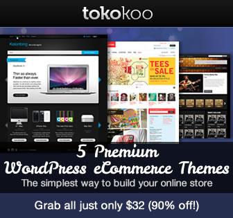 5 Premium WordPress eCommerce Themes Bundled from Tokokoo