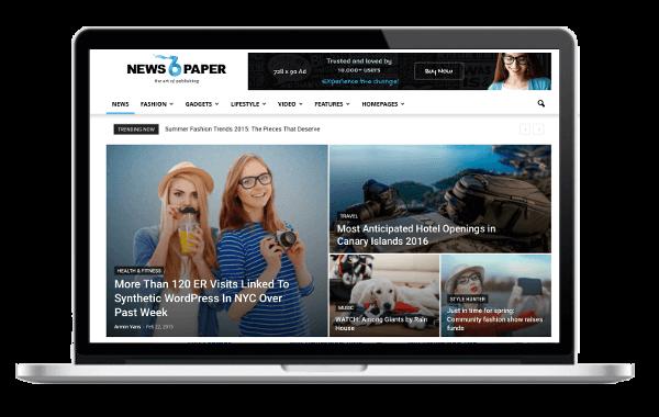 Newspaper Responsive WordPress Premium Theme - Big Slider Mega Menu