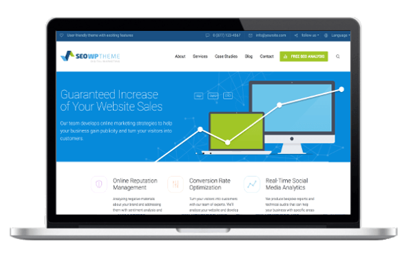 WordPress Premium Theme - SEO WP — Social Media and Digital Marketing Agency