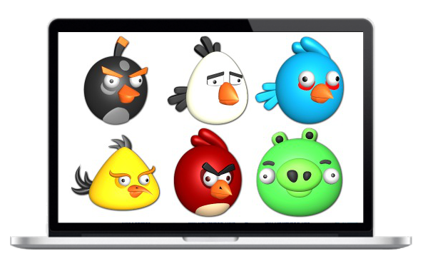 Angry Birds Icon Set fuer kommerzielle Nutzung - For commercial use
