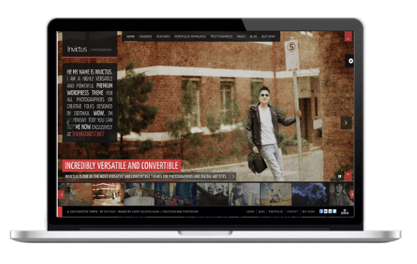 WordPress Fotoblog Theme - Invictus - Ein Fullscreen Photography WordPress Theme